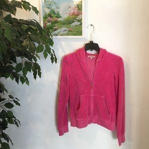 Juicy couture hoodie jacket pink size M